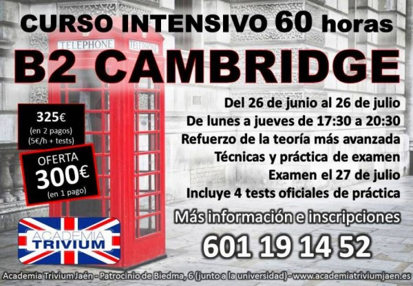 Intensivo B2 Cambridge Junio-Julio 2017
